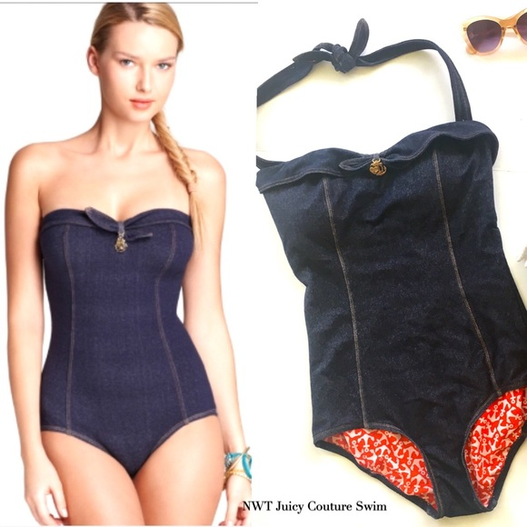 8a52094dc6 Juicy Couture Other - Juicy Couture Denim One piece Swimsuit - NWT!